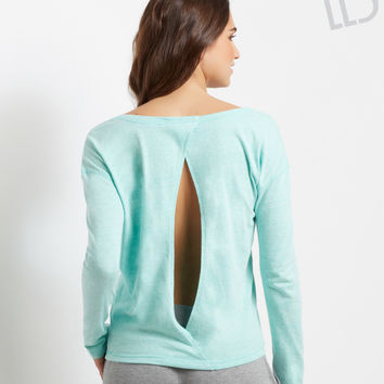 LLD Sandy Feet Open-Back Sweatshirt