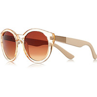 River Island Womens Orange clear round sunglasses