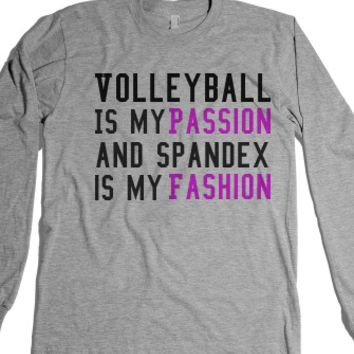 Heather Grey T-Shirt | Funny Sports Volleyball Shirts