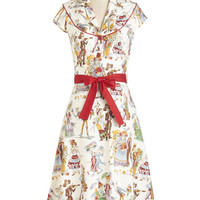 ModCloth Vintage Inspired Cap Sleeves A-line Cause for Skele-bration Dress