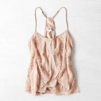 AEO EMBROIDERED FLOATY CAMI