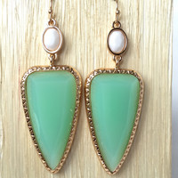 Get To The Point Earrings - Mint