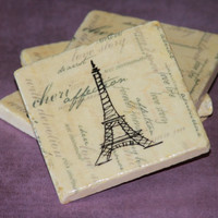 Set of 4 Eiffel Tower Coasters