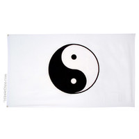 White Yin Yang Flag on Sale for $9.99 at HippieShop.com