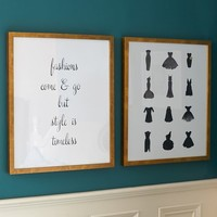 Fashion Sentiment Wall Art