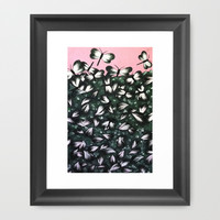 Leaving Butterflies Framed Art Print by Natasha Gualy
