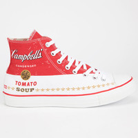 Converse Chuck Taylor All Star Warhol Hi Shoes White/Red  In Sizes