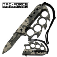 "3.5"" Digital Camo Knife w/ Finger Guard"