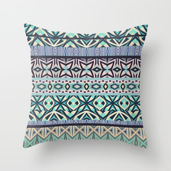 Tribal Pattern #3 Throw Pillow by Ornaart