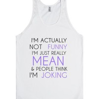 I'm Actually Not Funny (tank)-Unisex White Tank