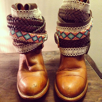 """The """"Beckee"""" - Custom Upcycled Leather Cowboy Boots"""