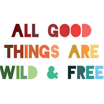 Thoreau Quote Print - All good things are from LitPrints ...