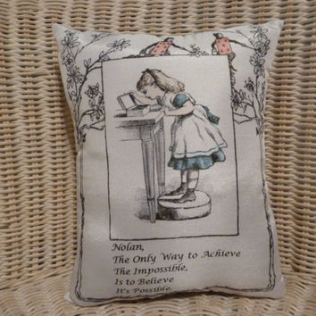 Alice In Wonderland Personalized Pillow w Your Name etc