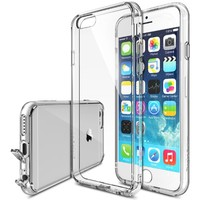 iPhone 6 Case - Ringke FUSION iPhone 6 Case 4.7 [Free HD Film/Dust Cap&Drop Protection Series][CRYSTAL VIEW] Premium Crystal Clear Back Shock Absorption Bumper Hard Case for Apple iPhone 6 4.7 Inch - Eco/DIY Package