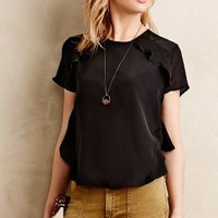 Ina Ruffled Silk Top by HD in Paris Black