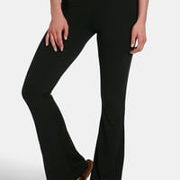 Ultra Soft Knit Solid Boot Cut Pull On Pants - Black
