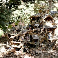 Kickstarter Print The Fairy Houses in the Forest by Sunflowerhouse