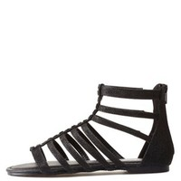Bamboo Jeweled Glitter Gladiator Sandals by Charlotte Russe - Black