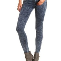 "Refuge ""Skin Tight Legging"" Acid Wash Skinny Jeans"