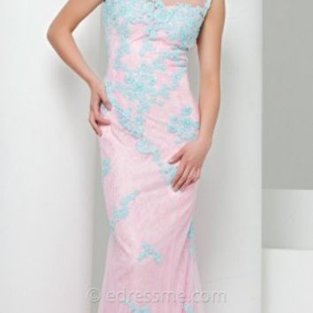 Lace Over Lace Prom Gown by Tony Bowls Le Gala