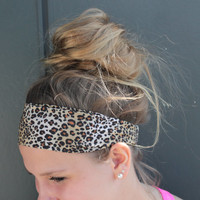 Classic Cheetah Workout Style Yoga Perfect Fit NonSlip Runner's Stretch Crossfit Headband Headwrap