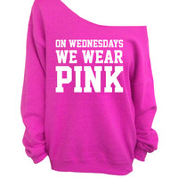 On Wednesdays We Wear Pink - Pink Slouchy Oversized Sweater