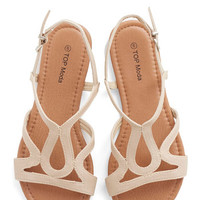 ModCloth Cafe Circuit Sandal in Chai