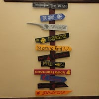 Seven Kingdoms of Westeros Directional Sign Full Collection  - Game of Thrones 11 Signs