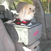 Pet Dog Cat Luxury Lookout Console Carrier Car Seat 7lbs Anthracite/Black