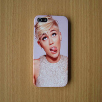 Cute Miley Cyrus iPhone Case Miley Cyrus Phone Case Miley Cyrus Phone Cover iPhone 5S iPhone 5 iPhone 5C iPhone plastic case Phone Hard case