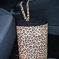 Car Trash Bag - Leopard Print - Car Accessories