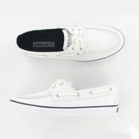 Sperry Top-Sider Women's Biscayne White Boat Shoe 7.5 M (B)