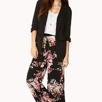 Cherry Blossom Wide-Leg Pants