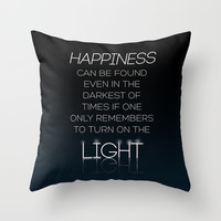 Harry Potter Albus Dumbledore Quote Throw Pillow by Raeuberstochter   Society6