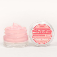 Whipped Lip Butter - Strawberry & Vanilla - Natural Icing for Your Lips