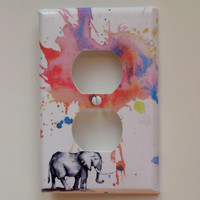 Elephant Decorative Outlet Light Switch Plate Cover by idillard