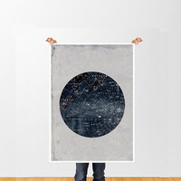 Vintage Inspired Astronomy Print Poster, Constellations, Illustration,  Astrology, Stars Map,  Zodiac, Space