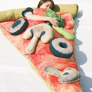 Slice of Pizza Sleeping Bag w/ Optional Veggie Pillows