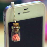 Kawaii LOVE BOTTLE with Pink Hearts Iphone by fingerfooddelight