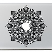 """Vati Leaves Removable Lucky Flowers Cool Design Best Vinyl Decal Sticker Skin Art Black Perfect For Apple Macbook Pro Air Mac 11"""" inch / Unibody 11 Inch Laptop"""