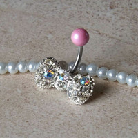 Bow Belly Button Ring Navel Ring Body Jewelry