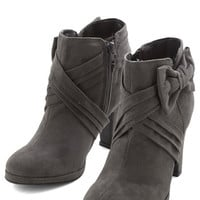 ModCloth Strut the Strut Bootie in Charcoal