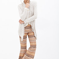 FOREVER 21 Zigzag Patterned Bell Bottoms Brown/Multi