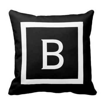 Monogram White Stripes | Reversible Pillow