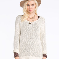 Full Tilt Essential Womens Slouchy Sweater Oatmeal  In Sizes