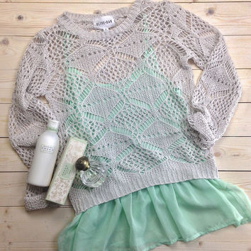 Crochet Sweater Tank Set