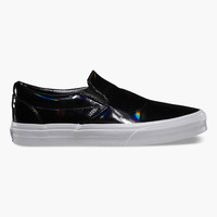 Vans Patent Leather Classic Slip-On Womens Shoes Black  In Sizes