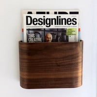 Magazine Rack - Wall hung wooden magazine holder
