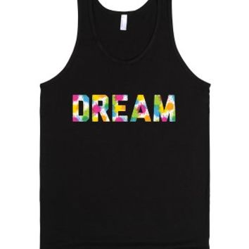 Dream-Unisex Black Tank