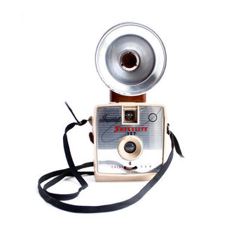 Vintage Imperial Satellite Camera - Retro 1960s 127 Model with Flash Unit /  Space Age Photography